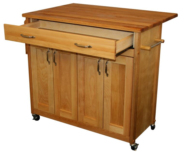 Shop Catskill Craftsmen Natural Hardwood Oiled Finish: Catskill Craftsmen Deep Island With Flat Panel Doors And