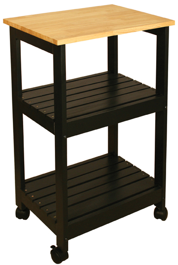 Kitchen Utility Cart   Black Or White (81515, 81516)
