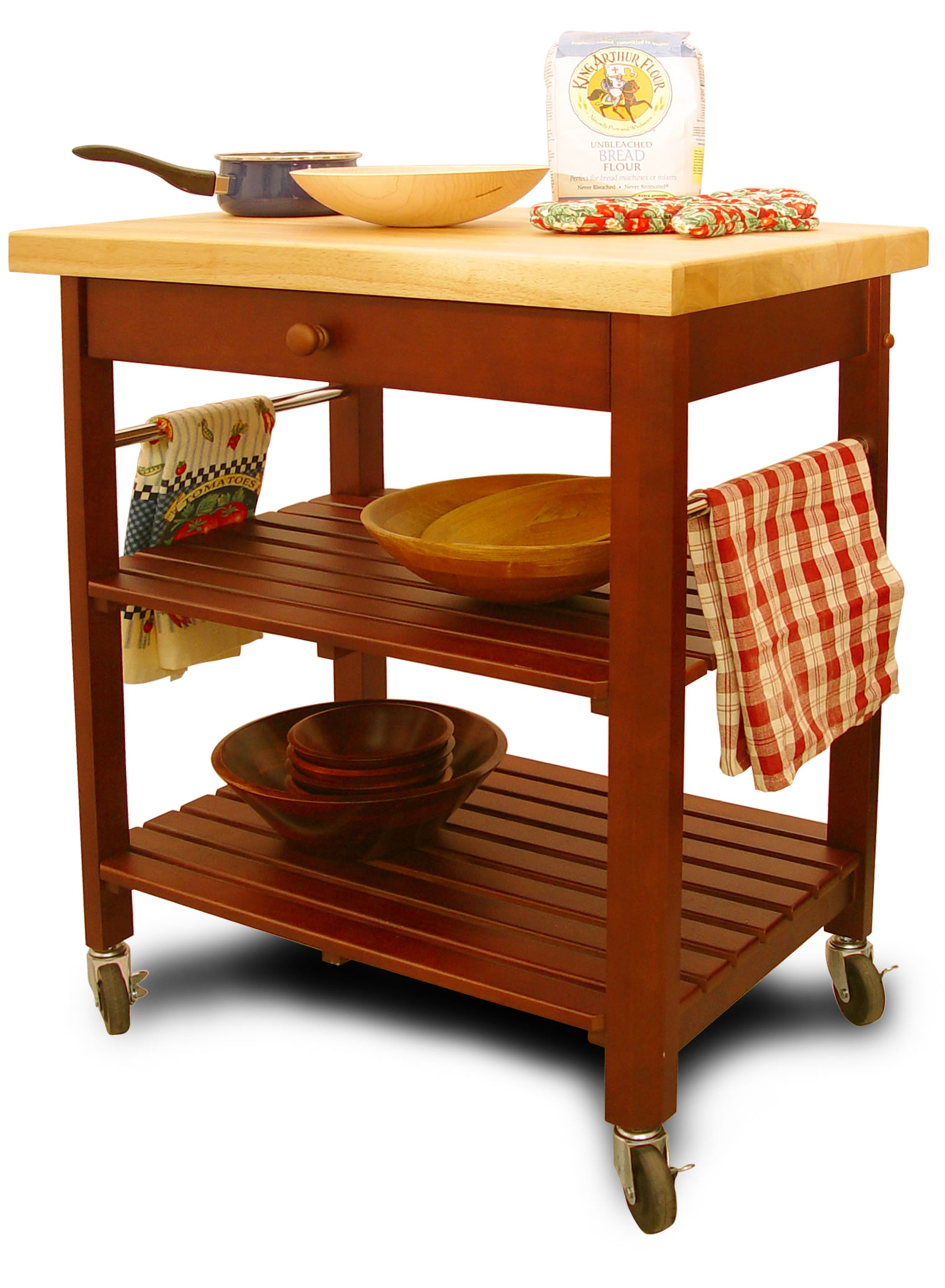 catskill craftsmen roll about kitchen cart model
