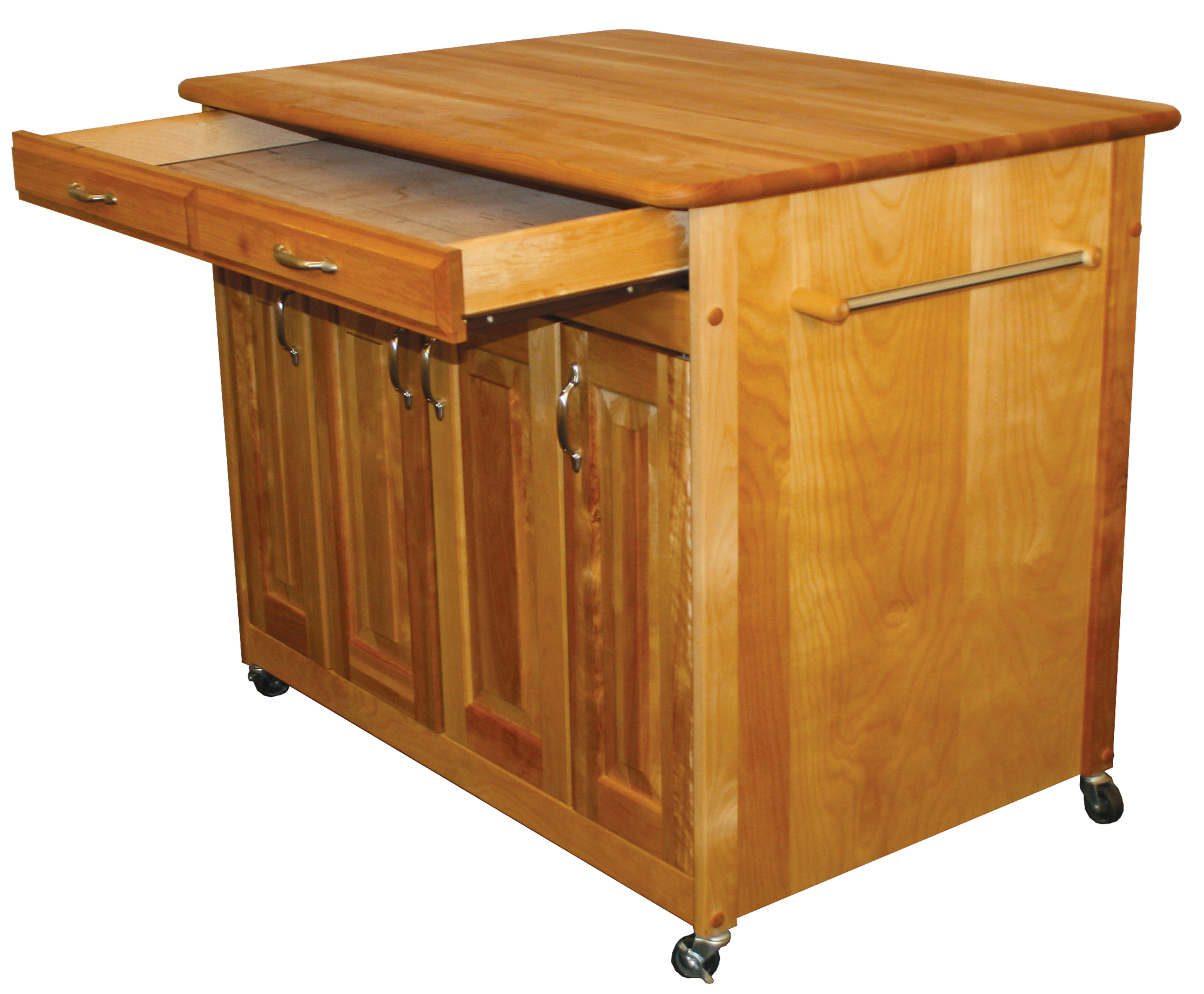catskill craftsmen butcher block work center plus model