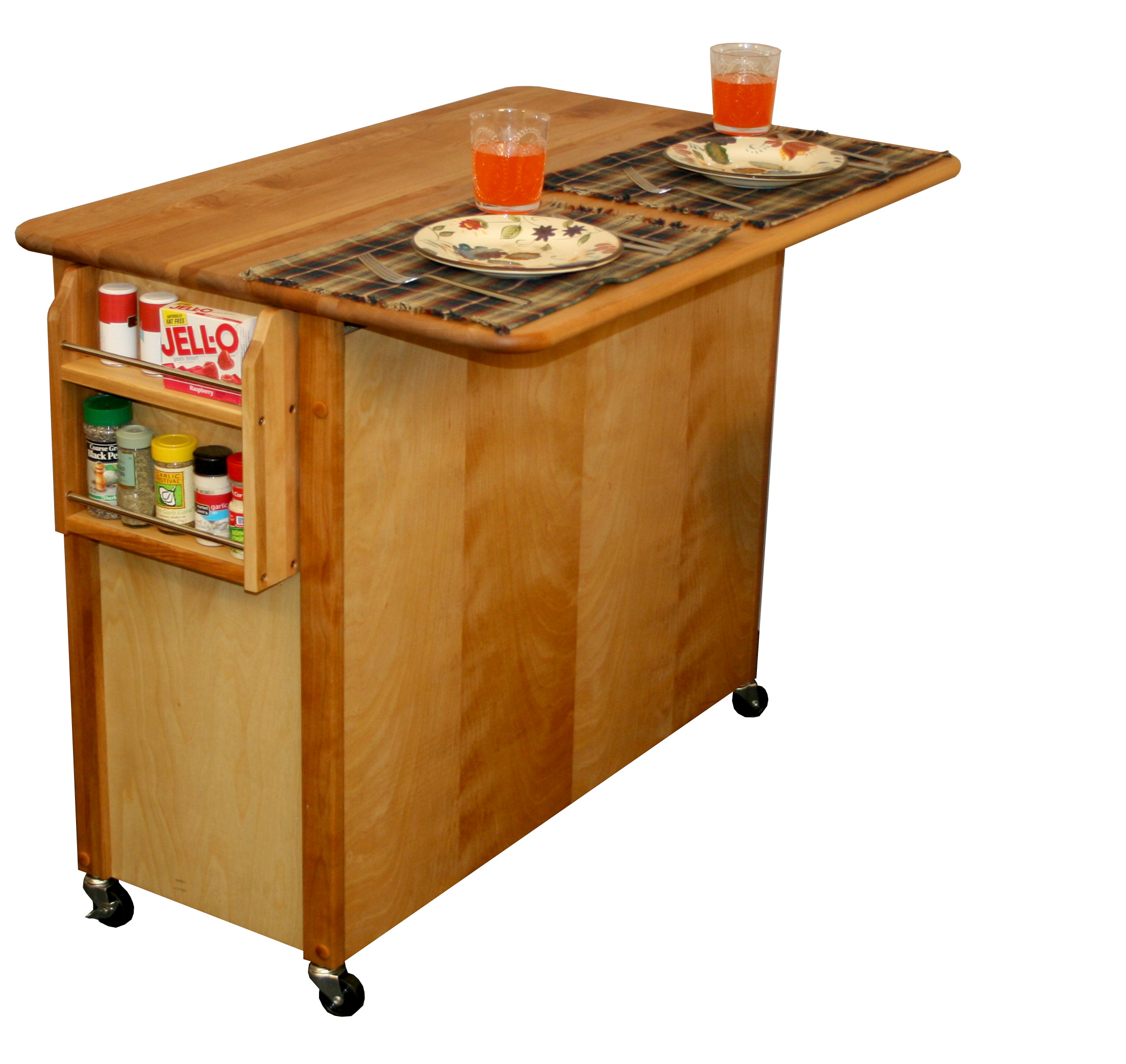 kitchen island with drop leaf catskill craftsmen butcher block island with raised panel 8245