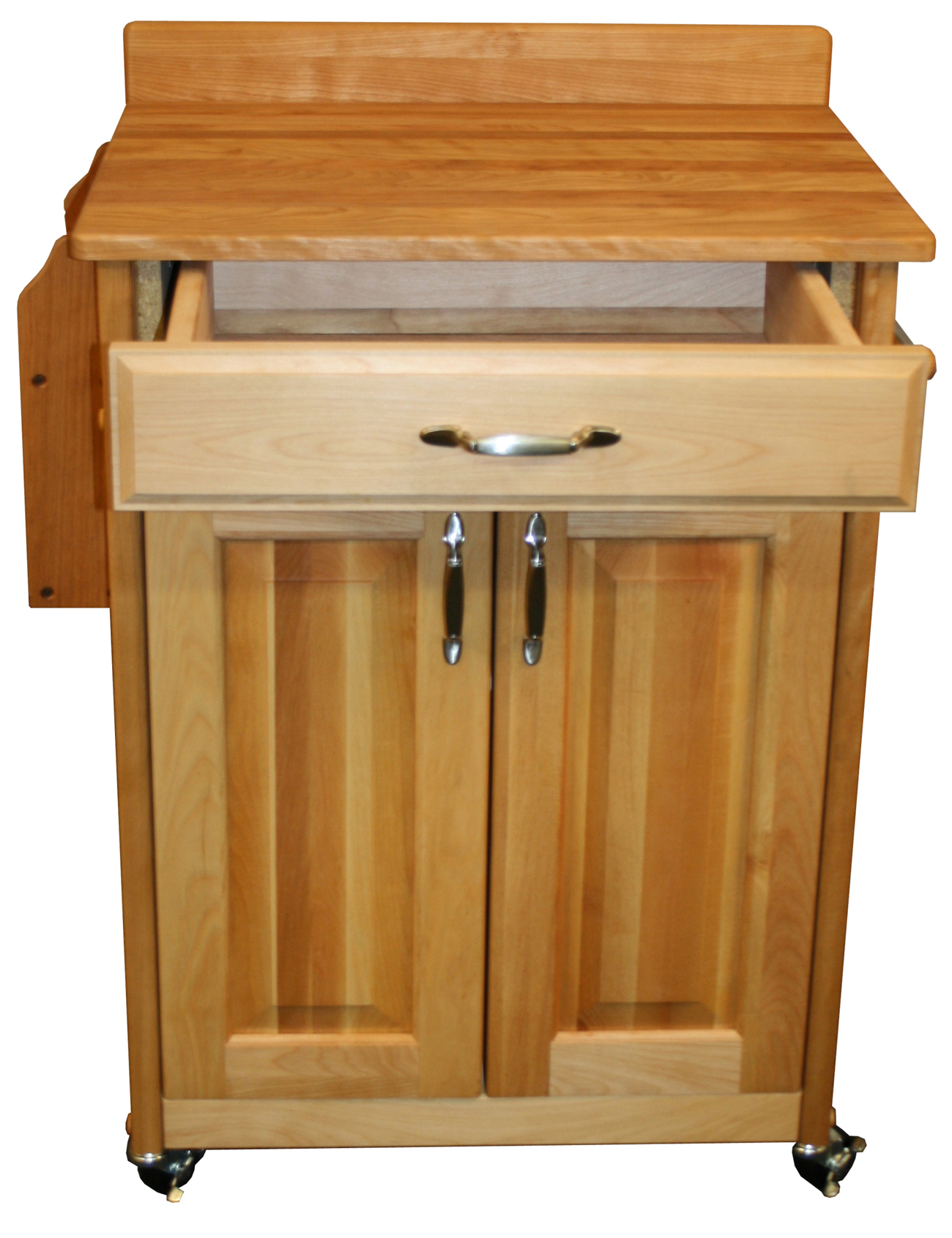 catskill craftsmen butcher block cart with backsplash and raised panel doors model 61532 - Raised Panel Restaurant 2016
